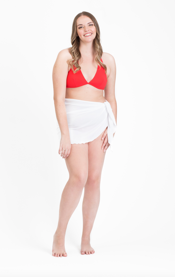Short Elegant Swim Wrap