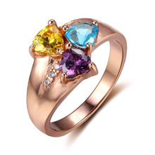 Load image into Gallery viewer, Heart Cluster Mother's Ring with Accents