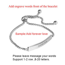 Load image into Gallery viewer, Customize Engrave Bracelet
