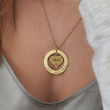 Load image into Gallery viewer, Love Heart Grandmother / Mother Necklace