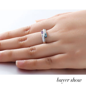 Double Baguette Bypass Ring