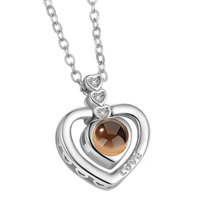 I Love you Projection Necklace