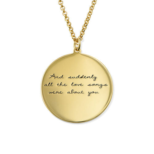 Handwritten Style Necklace