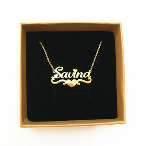 Heart With Personalized Name Necklace & Pendants