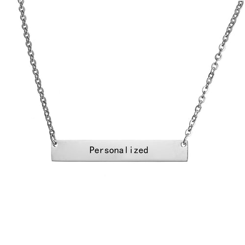 Personalized Bar Pendant