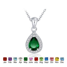 Load image into Gallery viewer, Birthstone Pendant Necklace