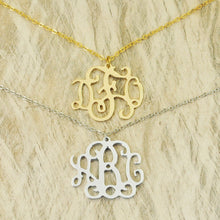 Load image into Gallery viewer, Celebrity Monogram Necklace
