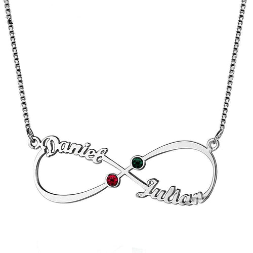 Infinity Love Birthstone Necklace