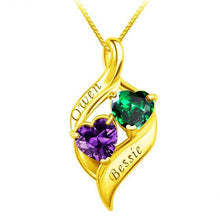 Load image into Gallery viewer, One Drop Couple Birthstone Necklace