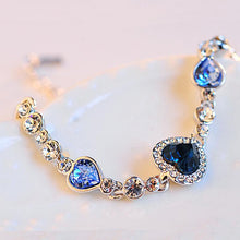 Load image into Gallery viewer, Chain bracelets & bangles Shiny Rhinestone Heart shape