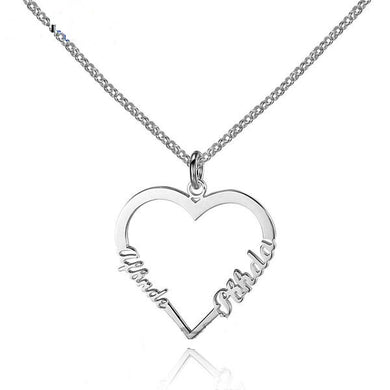 Couple Heart Necklace - Yours Truly Collection