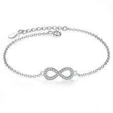 Load image into Gallery viewer, Infinity Crystal Charm Bracelet