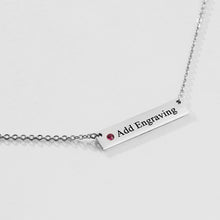 Load image into Gallery viewer, Birthstone bar Necklace