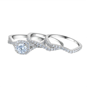 3 Pcs Wedding Rings