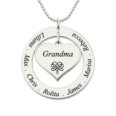 Love Heart Grandmother / Mother Necklace