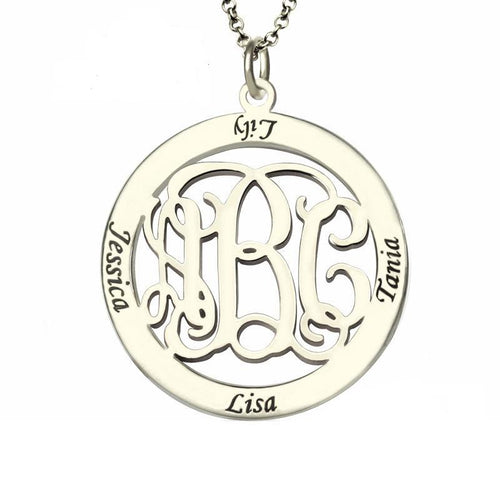 Family Name Monogram Necklace