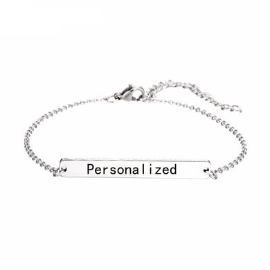 Bar Personalized Bracelet