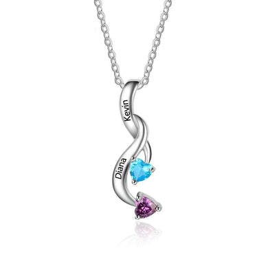 Moon light drop Couple Necklace