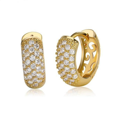 Small Circle Austrian CZ Earring