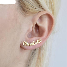 Load image into Gallery viewer, Personalized Name Stud Earrings