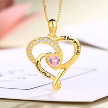 Load image into Gallery viewer, Heart Birthstone Necklace