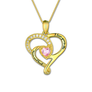 Heart Birthstone Necklace