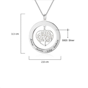 Tree Of Life Name Necklace