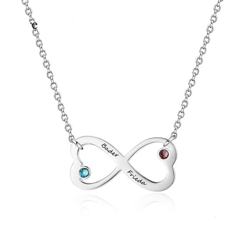 Heart Infinity Birthstone Necklace