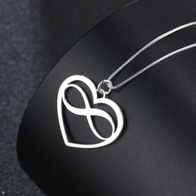 Load image into Gallery viewer, Heart & Infinity Love Necklace