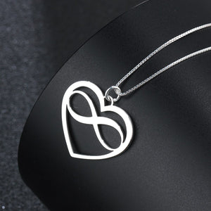 Heart & Infinity Love Necklace