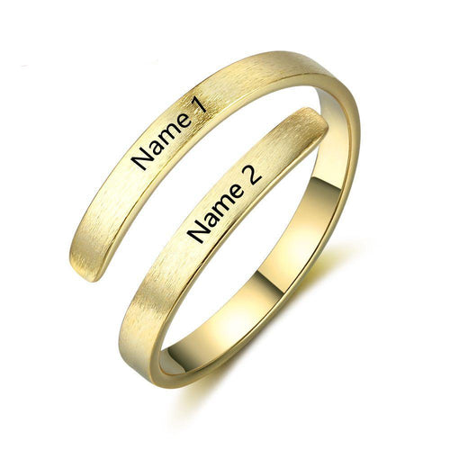 Customize Engraved Names Adjustable Ring