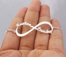 Load image into Gallery viewer, Infinity Bracelet with Names
