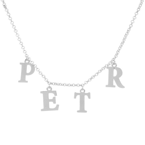 Name Choker in Sterling Silver