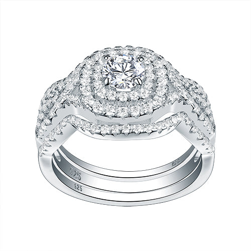 3Pcs Engagement Ring