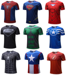 Tee shirt super héro, T shirt Spiderman Superman Captain america Avengers Iron man
