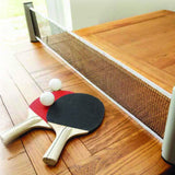 Filet pour tennis de table ajustable à n'importe quelle table. Filet de ping pong rétractable.