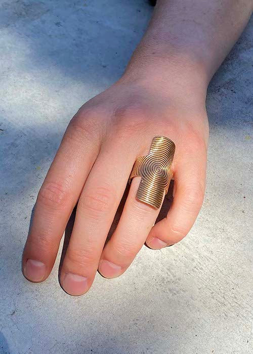 Adjustable Bronze Ring