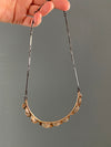 Semicircles Bronze and Silver Necklace