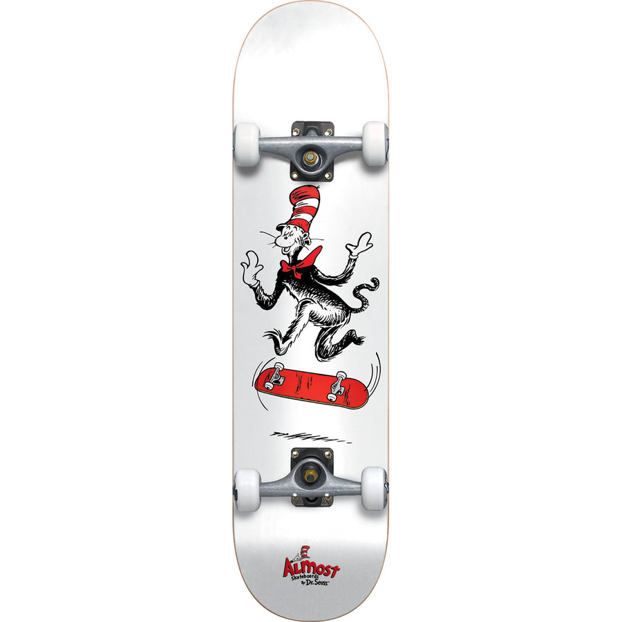 "Almost Dr. Seuss Cat Tre Mid Complete Skateboards (7.375"")"