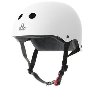 Triple 8 Certified Helmet SS (White Rubber)
