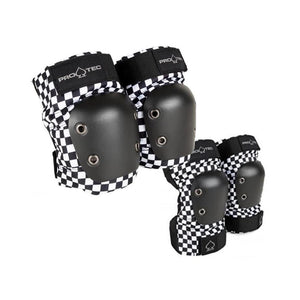 Protec Street Knee & Elbow Pads Pack - Adult (Checkers)