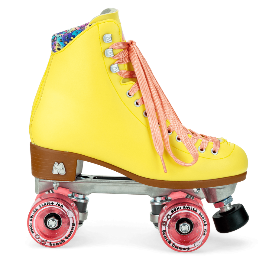 Moxi Beach Bunny Roller Skates - (Strawberry Lemonade)