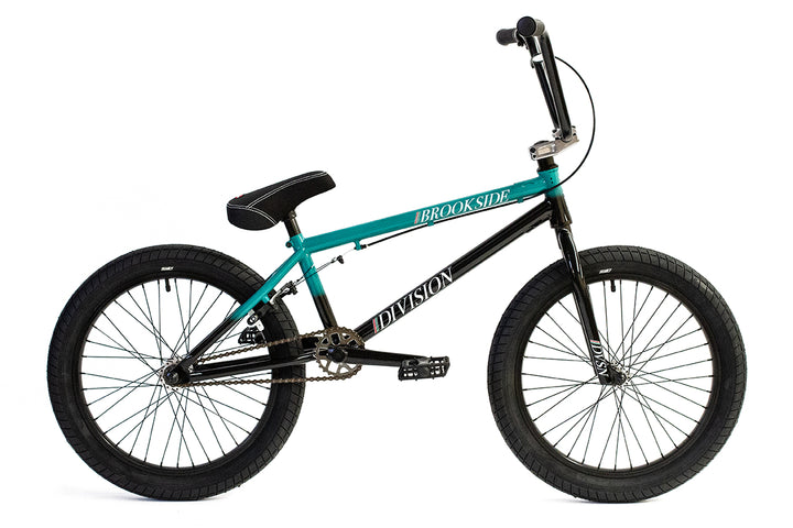 "Division Brookside 20"" BMX (Black / Teal Fade)"