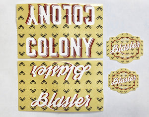Colony Blaster BMX Frame Sticker Pack