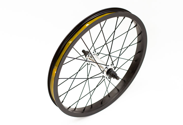 "Colony Horizon Front 16"" BMX Wheel (Black / Polished)"