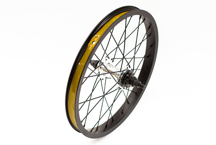 "Colony Horizon 16"" Rear BMX Wheel (Black / Polished)"