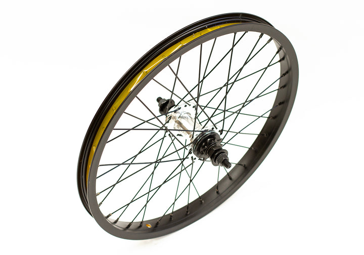 "Colony Horizon 18"" Rear BMX Wheel (Black / Polished)"