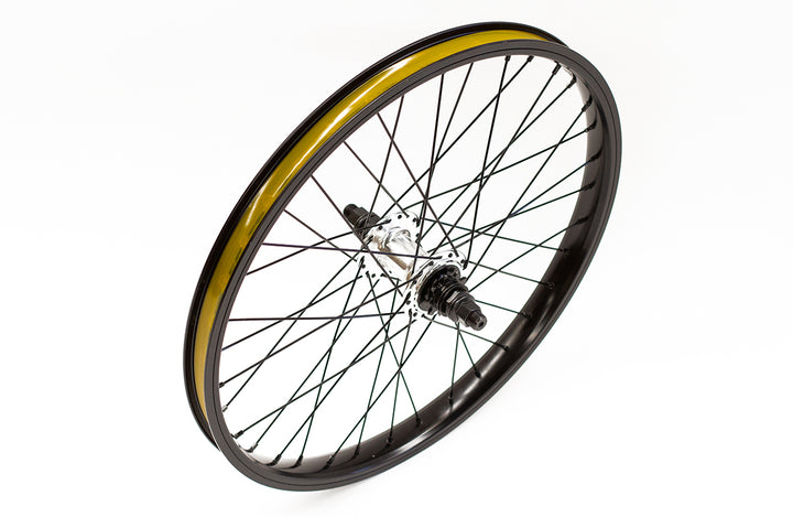 "Division Rear 20"" BMX Wheel (Black / Polished)"