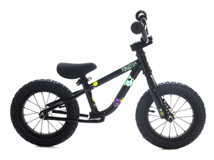 "12"" Forgotten Critter Balance Bike Gloss Black"