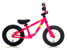 "Load image into Gallery viewer, 12"" Forgotten Critter Balance Bike Neon Pink"